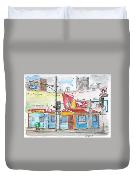 Tony Burger, Downtown Los Angeles, California Duvet Cover