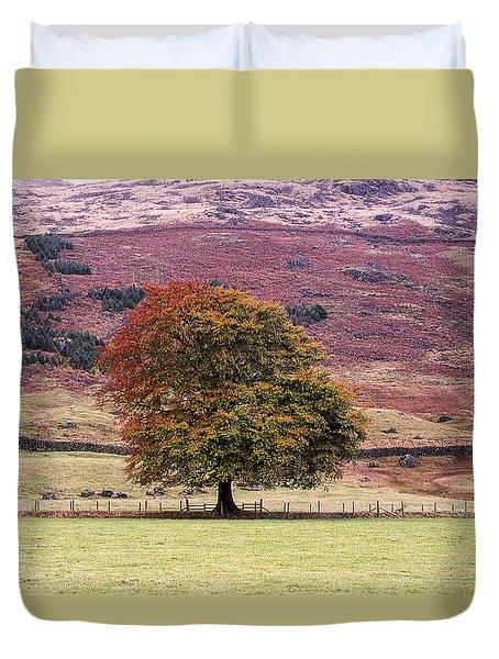Tones Of Autumn Duvet Cover