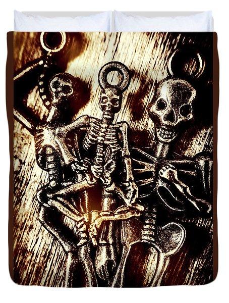 Tones Of Halloween Horror Duvet Cover