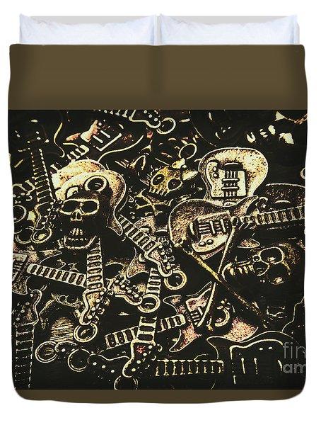 Tones Of Hard Rock Duvet Cover