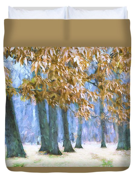 Tones Of Winter Duvet Cover