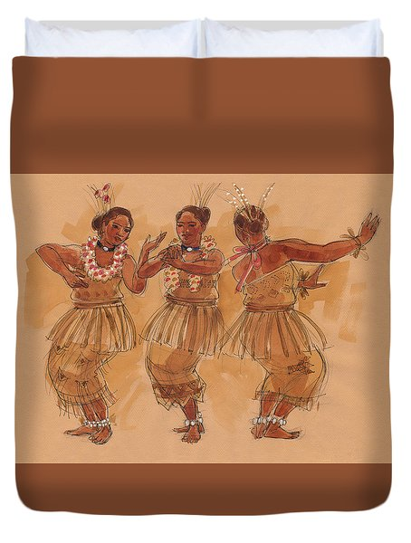 Tonga Dance From Niuafo'ou Duvet Cover