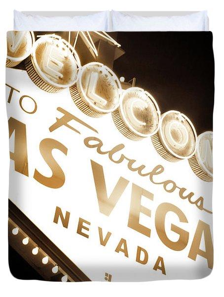 Tonight In Vegas Duvet Cover