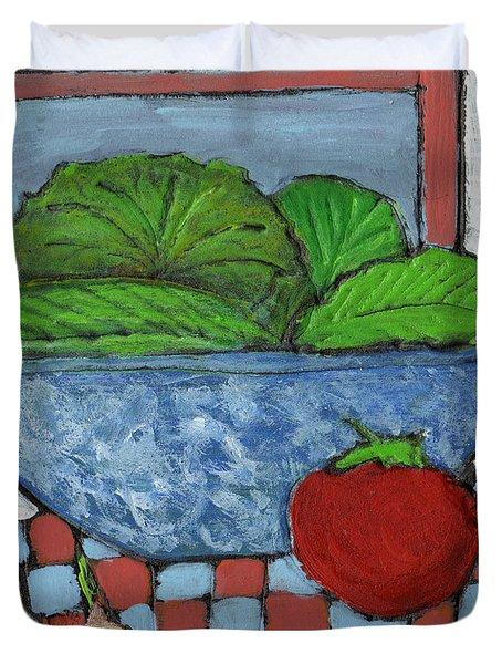 Tonight's Salad Duvet Cover