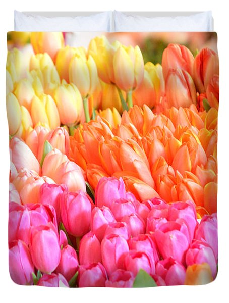 Tons Of Tulips Duvet Cover