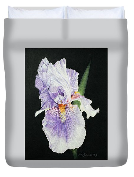Tonto Basin Iris Duvet Cover by Marna Edwards Flavell
