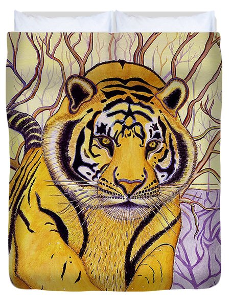 Duvet Cover featuring the painting Tony Tiger by Joseph J Stevens