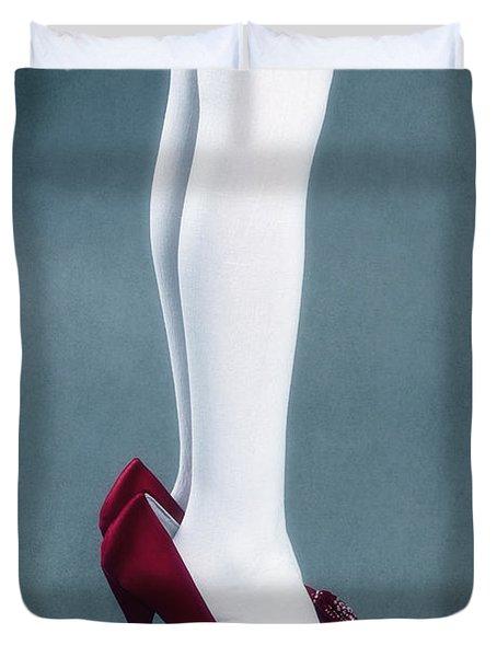 Too Big Shoes Duvet Cover by Joana Kruse