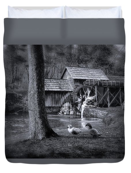 Too Cold For The Ducks Duvet Cover