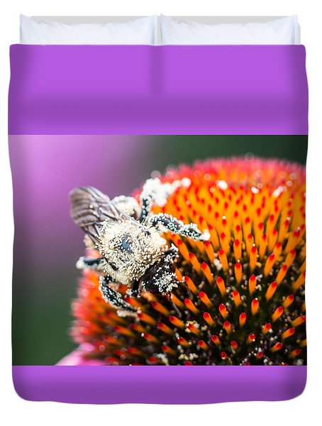 Duvet Cover featuring the photograph Too Heavy To Fly by Cathy Donohoue