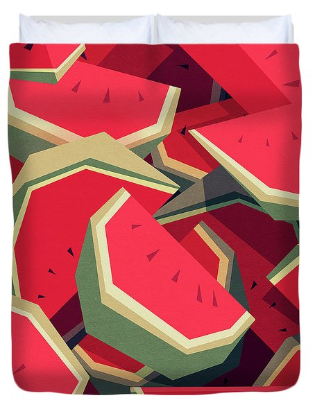 Too Many Watermelons Duvet Cover