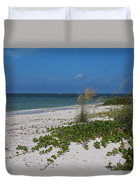 Duvet Cover featuring the photograph Too Much Space Between Us by Michiale Schneider