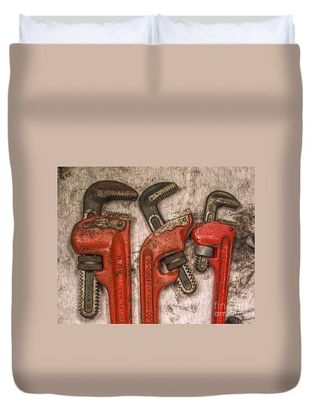 Tools Of The Trade Still Life Duvet Cover by Randy Steele