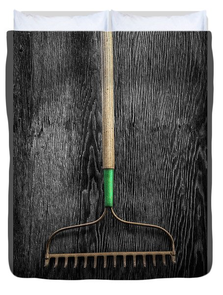 Tools On Wood 9 On Bw Duvet Cover by YoPedro