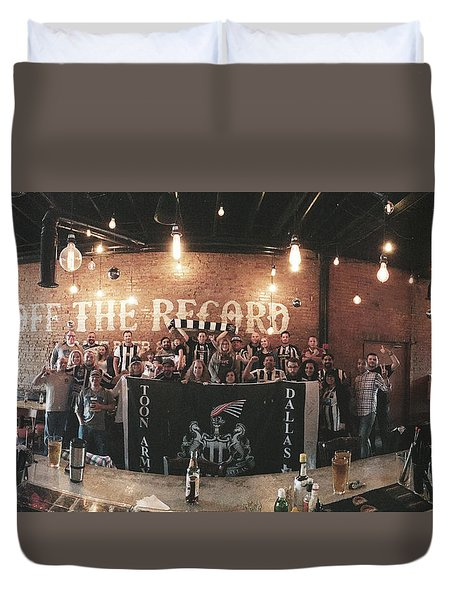 Toon Army Dallas 2015 Duvet Cover by Steve Hunter