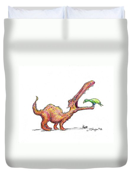 Toothache Duvet Cover by Mark Johnson