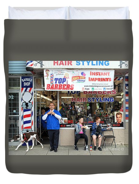 Top Barbers Duvet Cover