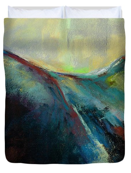 Top Line Duvet Cover by Frances Marino