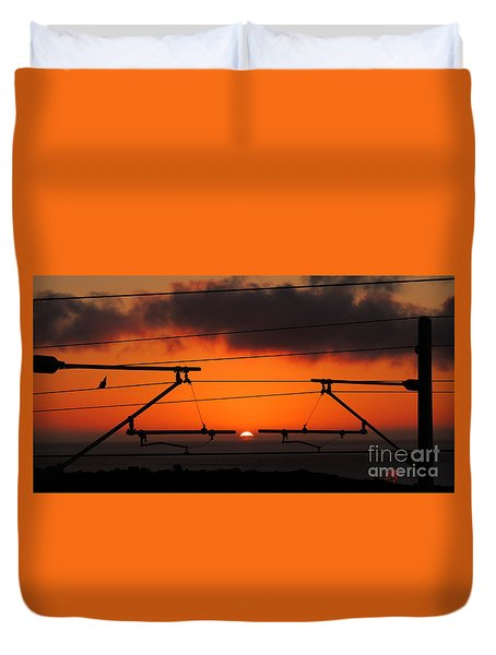 Duvet Cover featuring the photograph Top Notch Spot by Linda Hollis