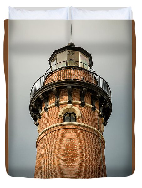 Duvet Cover featuring the photograph Top Of Little Sable Point Lighthouse by Adam Romanowicz