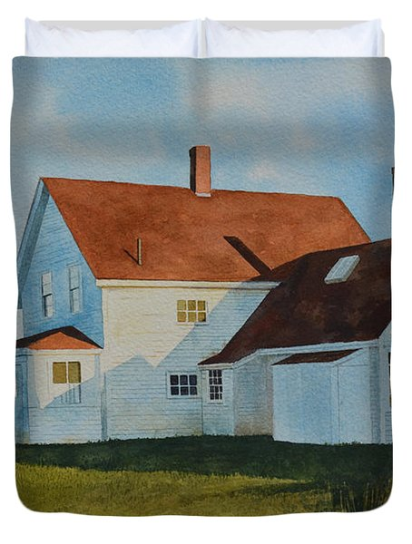 Top Of Monhegan Duvet Cover