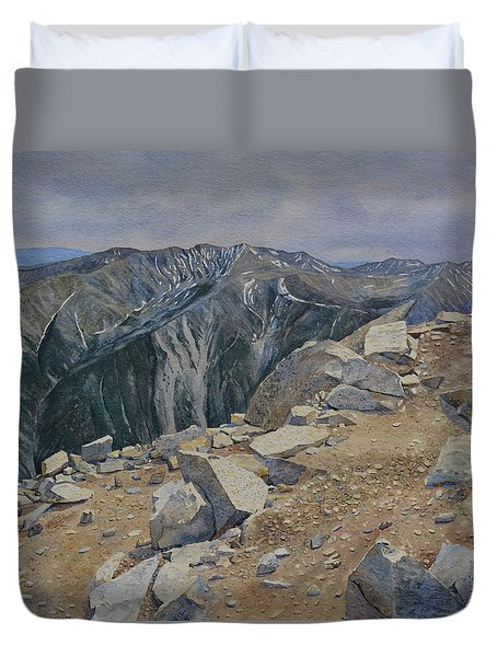 Top Of Mt. Princeton Duvet Cover
