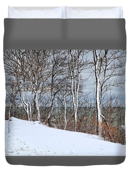 Top Of The Bluff Duvet Cover