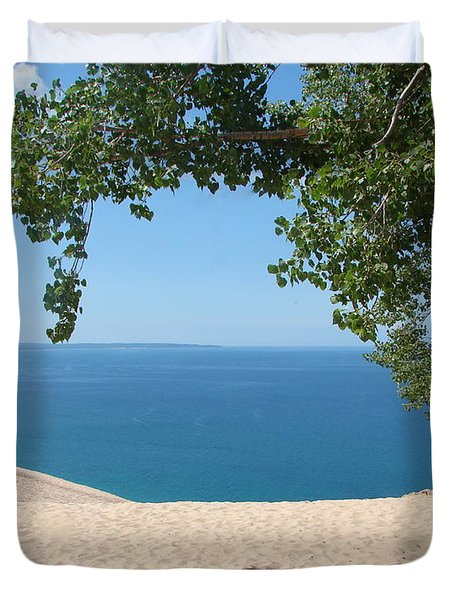 Top Of The Dune At Sleeping Bear Duvet Cover