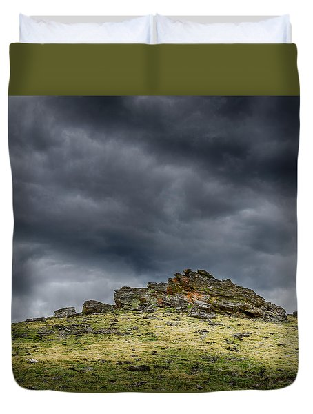 Top Of The Mountain Duvet Cover