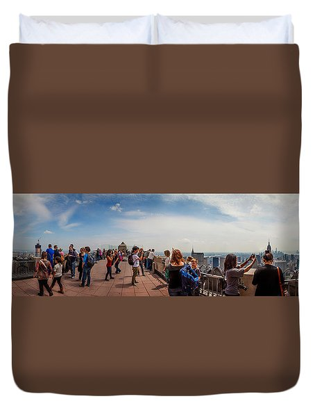 Top Of The Rock Experience Duvet Cover