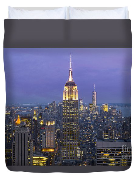 Duvet Cover featuring the photograph Top Of The Rock by Keith Kapple