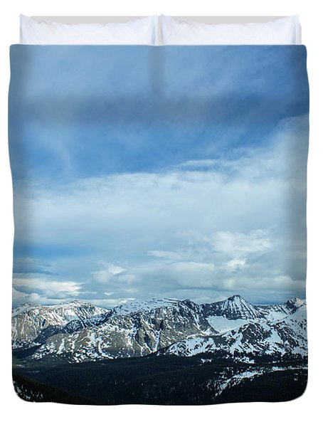 Top Of The Rockies Duvet Cover
