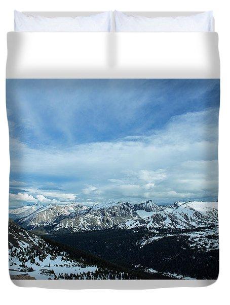 Top Of The Rockies Duvet Cover