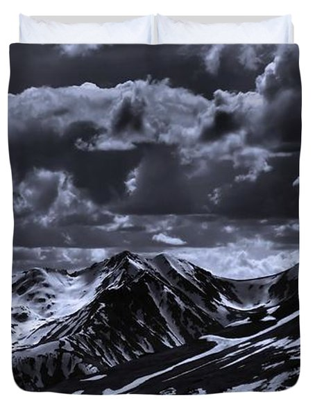 Top Of The Rocky Mountains From Trail Ridge Road Duvet Cover