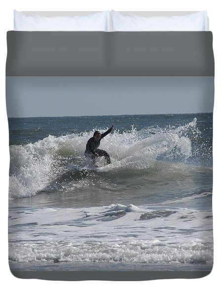 Top Of The Wave Duvet Cover by Greg Graham