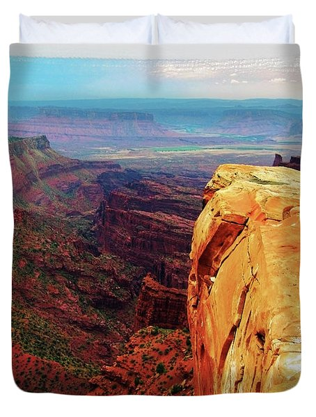 Duvet Cover featuring the digital art Top Of The World by Gary Baird