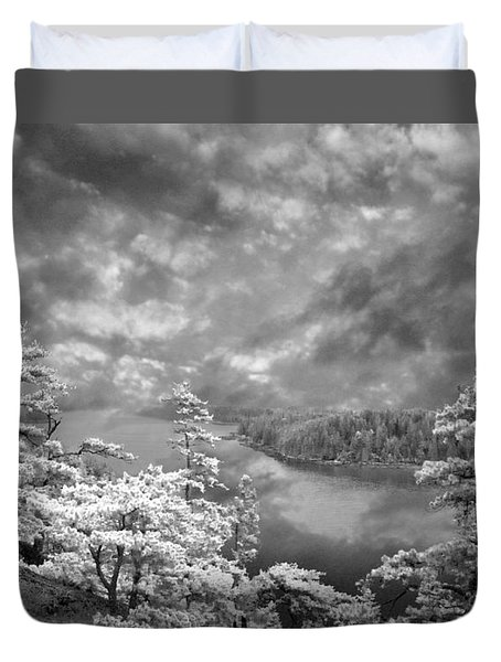Top Of Tip Toe Mountain, Vinalhaven, Maine Duvet Cover