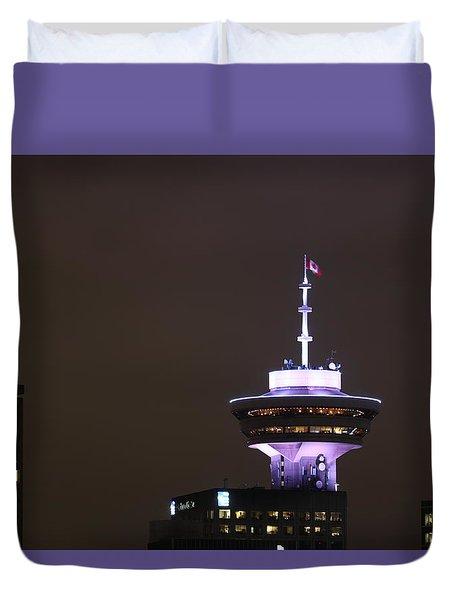 Top Of Vancouver Restaurant Duvet Cover