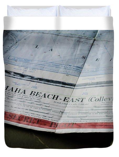 Top Secret - Omaha Beach Duvet Cover