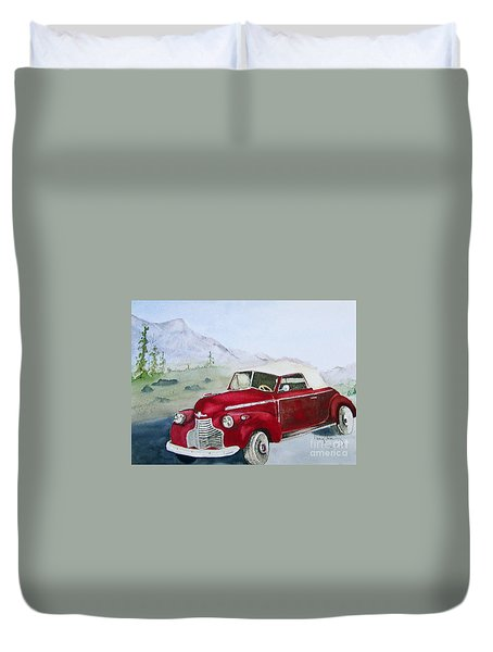 Topless 1940 Chevy Duvet Cover