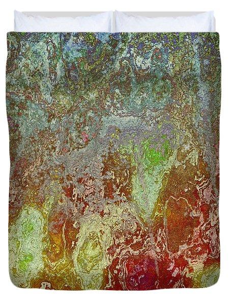 Duvet Cover featuring the digital art Topo 2 111415 by Matt Lindley