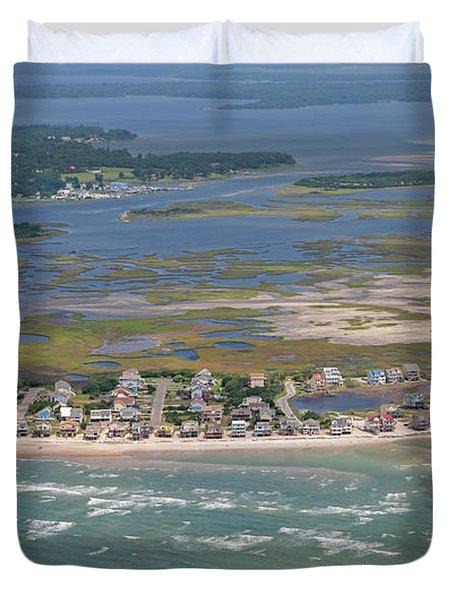 Topsail Island Migratory Model Duvet Cover
