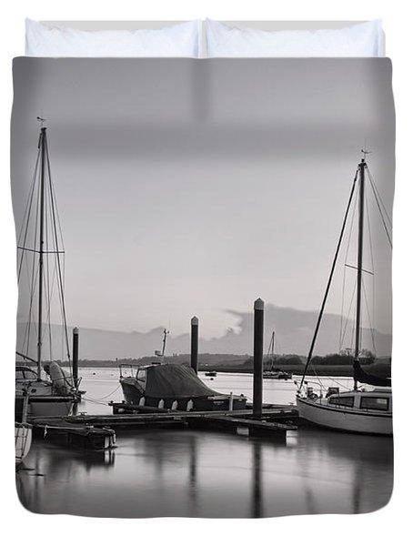 Topsham Boats At Dusk Duvet Cover