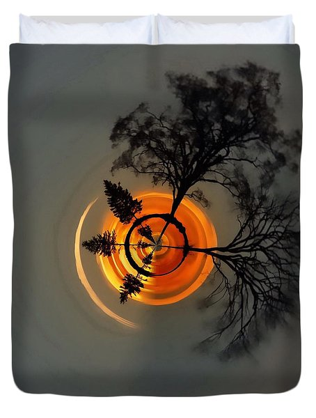 Topsy Turvy World - Sunset Duvet Cover