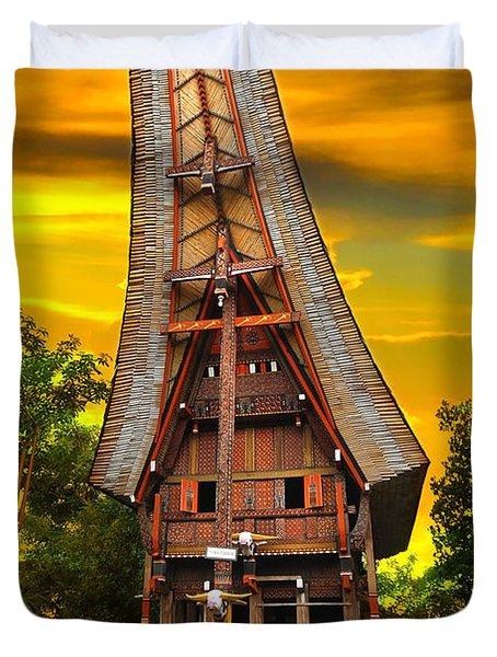 Toraja Architecture Duvet Cover