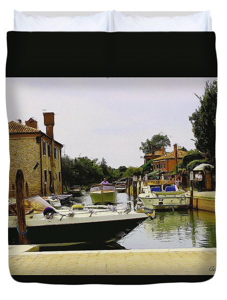 Duvet Cover featuring the photograph Torcello Island by Cendrine Marrouat