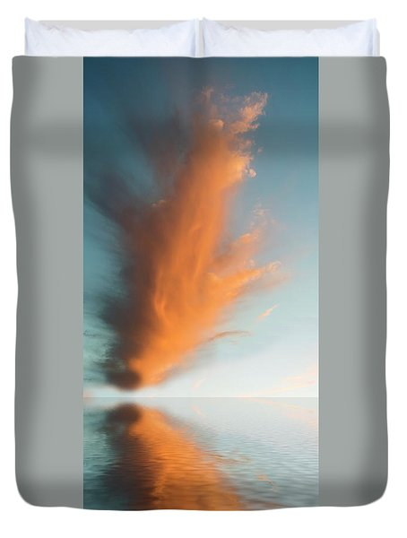 Torch Of Freedom Duvet Cover by Jerry McElroy