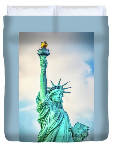 Duvet Cover featuring the photograph Torch Of Liberty by Nick Zelinsky