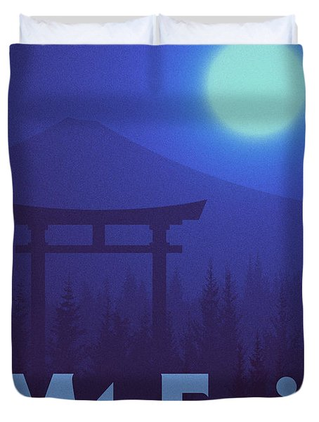 Torii Gate Japan - Blue Duvet Cover