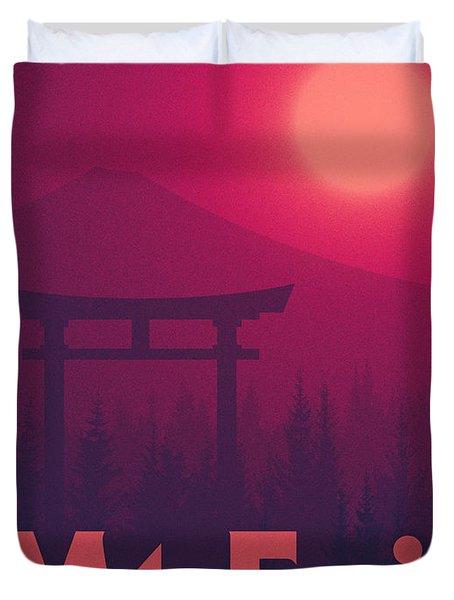 Torii Gate Japan - Magenta Duvet Cover